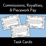 Commission, Royalties, Piecework Task Cards