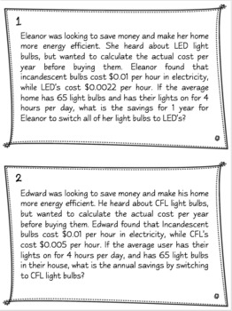 Financial Algebra - Computing Costs of Energy Efficient Appliances