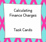 Finance Charges Task Cards
