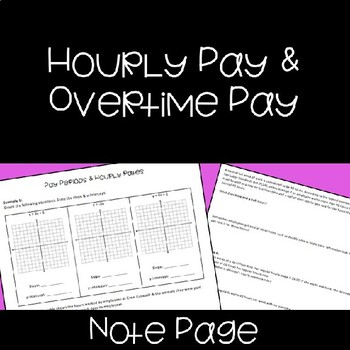 Overtime Pay Worksheets & Teaching Resources   Teachers Pay