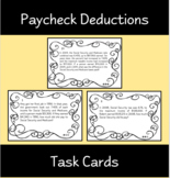 Social Security & Medicare Paycheck Deductions Task Cards