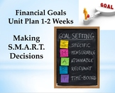 Financial Goals Unit- From Start-Finish:Notes, activities, project, review, test