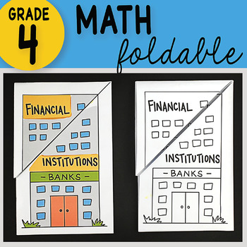 Doodle Notes - Financial Institutions Math Interactive Notebook Foldable