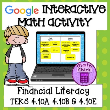 Financial Literacy 4th Grade TEKS 4.10A 4.10B 4.10E  Googl