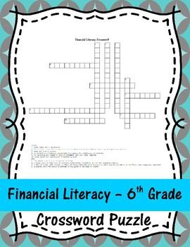 Financial Literacy - 6th Grade Crossword Puzzle