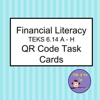 Financial Literacy 6th Grade Task Cards QR codes