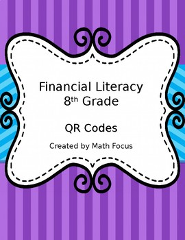 Financial Literacy 8th Grade Math With QR Codes STAAR Category 4