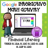Financial Literacy 8th Grade TEKS 8.12A 8.12C 8.12D 8.12G 8.12E 8.12F