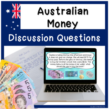 Financial Literacy - AUSTRALIAN MONEY Math Journal Prompts/Discussion Questions