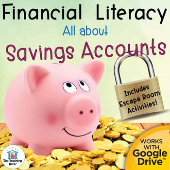 Financial Literacy All About Savings Accounts with Digital Escape Room