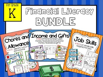 Financial Literacy Kindergarten:  BUNDLE