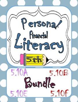 Financial Literacy Bundle 5.10A 5.10B 5.10E 5.10F Task Cards