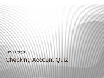 Financial Literacy Check Quiz