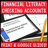 Checking Accounts Financial Literacy Task Cards