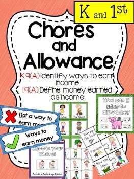 Financial Literacy:  Chores and Allowance