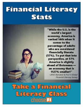 Financial Literacy Class | Statistics & Recruitment Campaign Posters | Printable