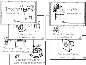 Financial Literacy:  Differentiate between Income and Gifts