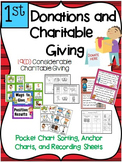 Financial Literacy:  Donations and Charitable Giving 1st Grade