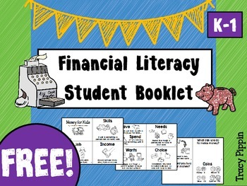 Financial Literacy FREE Student Booklet K-1