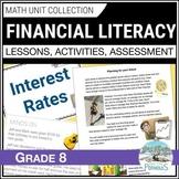 Financial Literacy unit (F1) - Grade 8 Math - 2020 Ontario Curriculum