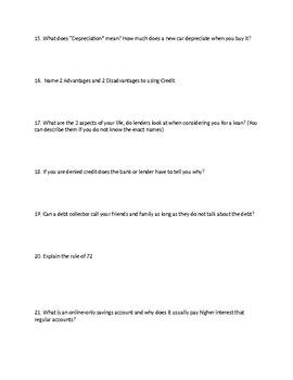 Financial Literacy Investor Test