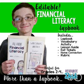 Financial Literacy Lapbook {EDITABLE} & MORE