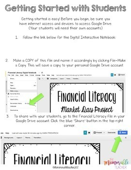 Financial Literacy/Market Day Digital Interactive Notebook