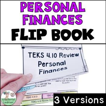 Financial Literacy Math Flipbook Review TEKS 4.10