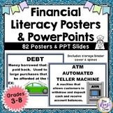 Financial Literacy Posters (Grades 3-8) Word Wall for Financial Literacy