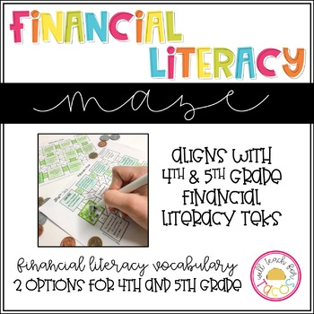 Financial Literacy Maze 4th and 5th grade TEKS