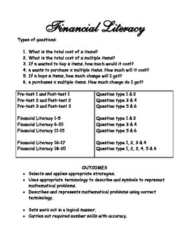 Financial Literacy (Money) - 26 + pages