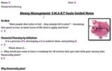 Financial Literacy - Money Management - SMART Goals Guided Notes
