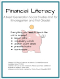 Financial Literacy, Money, Saving and Spending, Complete Unit for K-1!