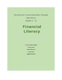 Financial Literacy New Course Proposal Language