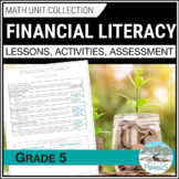 Financial Literacy Ontario Math Unit grade 5 - DISTANCE LEARNING