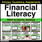 Financial Literacy Paycheck, Credit, Loans, and Tax Forms