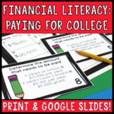 Paying for College Task Cards: Distance Learning and Print