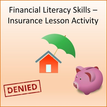 Financial Literacy -  Personal Insurance Lesson Activity
