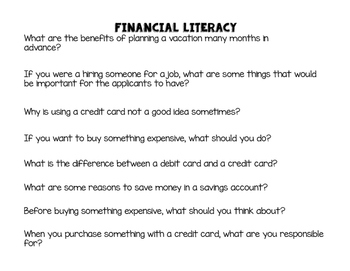 Financial Literacy Review