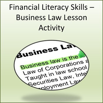 Financial Literacy Skills - Business Law Activity