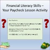 Financial Literacy Skills - Paycheck Activity