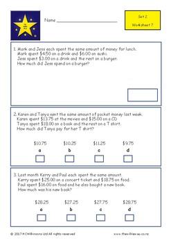 Financial Literacy: Solving Money Problems Set 2