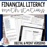 Financial Literacy : Middle School Math Stations