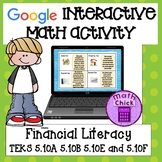 Financial Literacy TEKS 5.10A 5.10B 5.10E 5.10F Google Classroom Activity