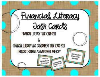Financial Literacy Task Cards