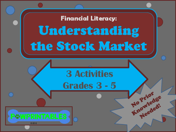 Financial Literacy: Understanding the Stock Market - 3 Activities! - Grades 3-5