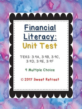 Financial Literacy Unit Test
