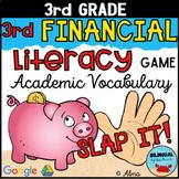 Financial Literacy Vocabulary | 3rd Grade ★ Slap It! GAME ★