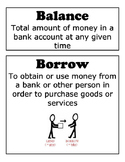 Financial Literacy Vocabulary Cards