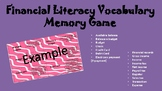 Financial Literacy Vocabulary Memory Game
